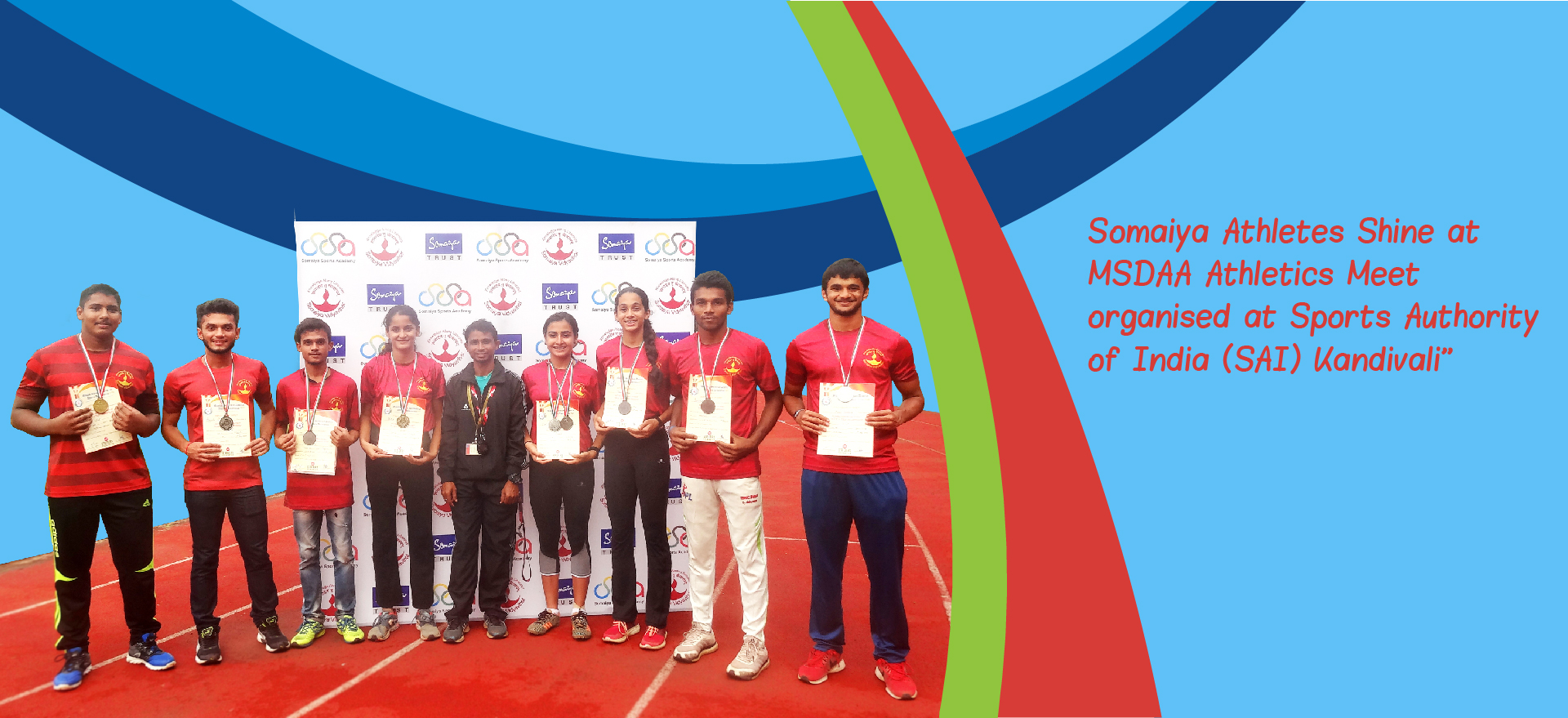 Somaiya athelets shine at MSDAA athletics meet organised at sports authority of india (SAI) kandivali