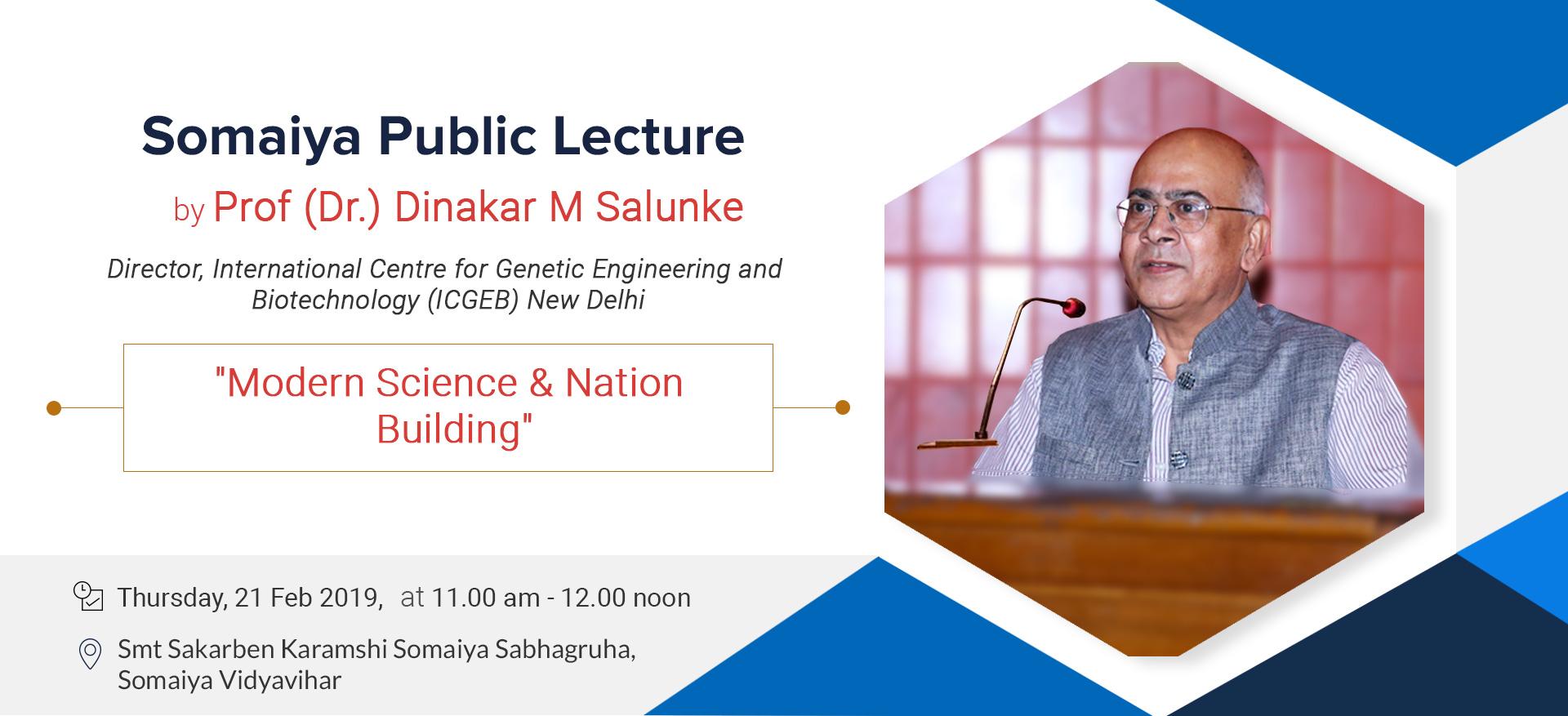 Somaiya Public Lecture