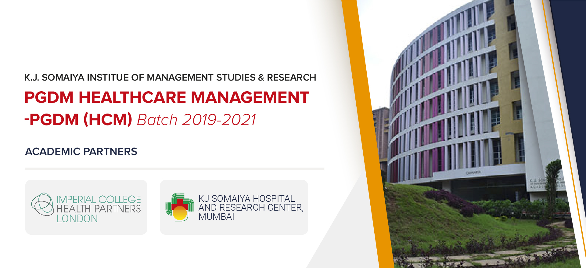 K.J. Somaiya institute of management studies and research PGDM healthcre management-PGDM (HCM) batch 2019-2021