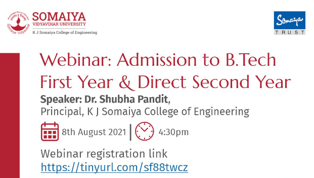 Webinar: Admission to B. Tech. First Year and Direct Second Year